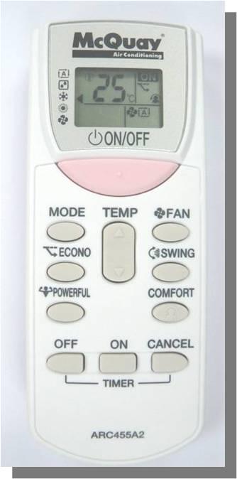 пульт дистанционного управления кондиционера McQuay инвертерной серии 2011